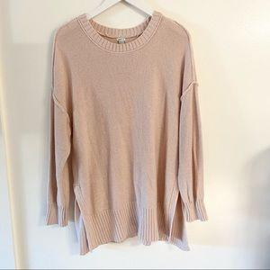Aerie Blush Pink Chunky Knit Oversized Sweater